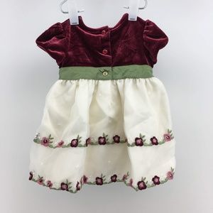 George Infant Girls Dress Size 3-6 Months Multicol